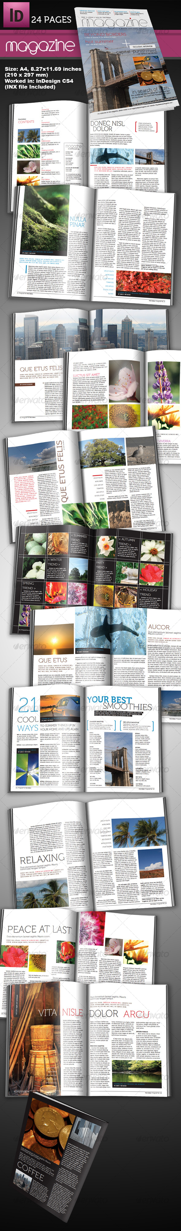 10 Full Magazine Layout Templates for InDesign and Photoshop - Best ...