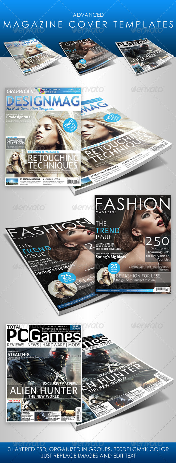 10 full magazine layout templates for indesign and photoshop best