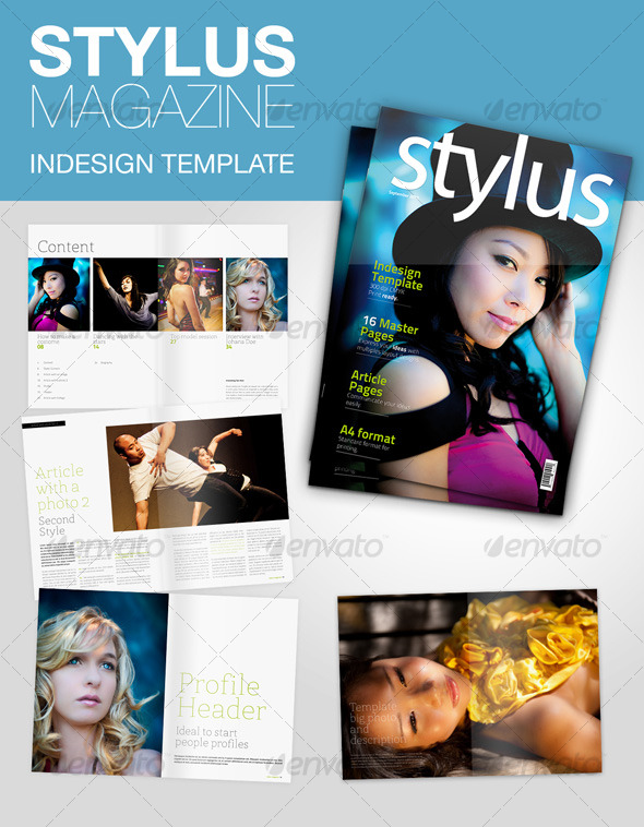 10 full magazine layout templates for indesign and photoshop, Powerpoint templates