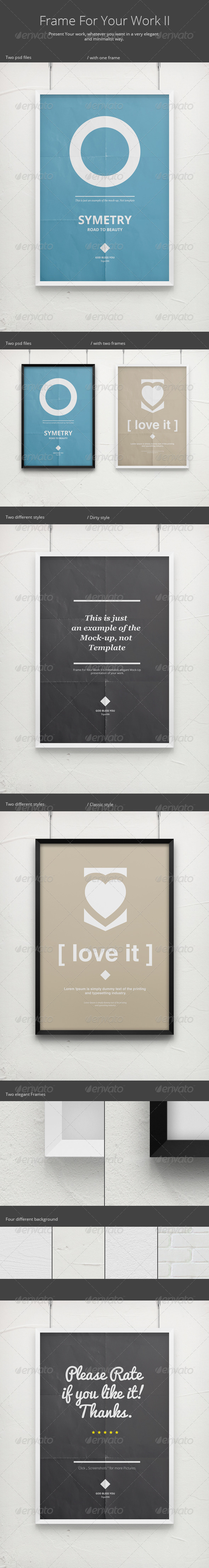 Frame For Your Work II - Poster Mock-Up