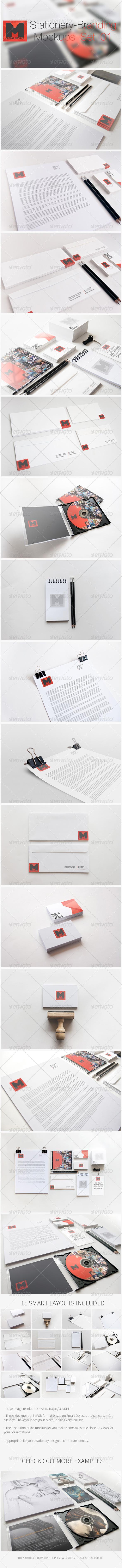 Stationery - Branding Mockups - Set 01