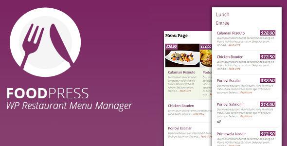 foodpress - Restaurant Menu Management WP Plugin