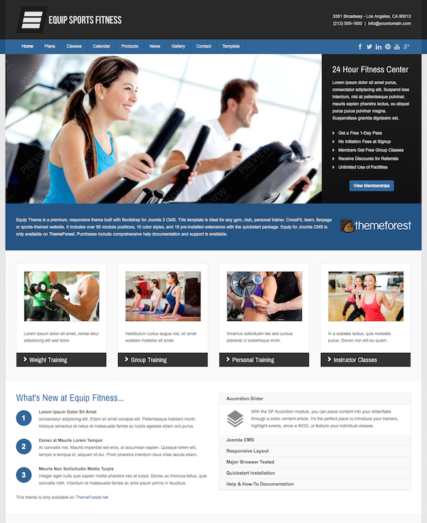 Equip Joomla Sports and Fitness Theme2
