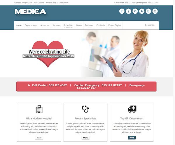 Medica - Clean, Responsive, Medical Joomla Theme2