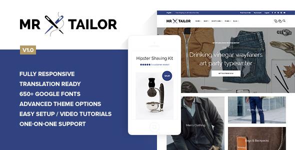 Mr. Tailor - Retina Responsive WooCommerce Theme