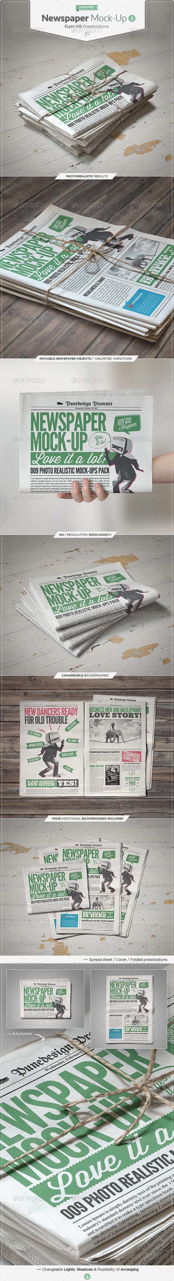 Newspaper : Newsletter Mock-Up - 2