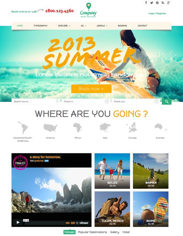 Noo Travel - Responsive Joomla 3 Travel Template2