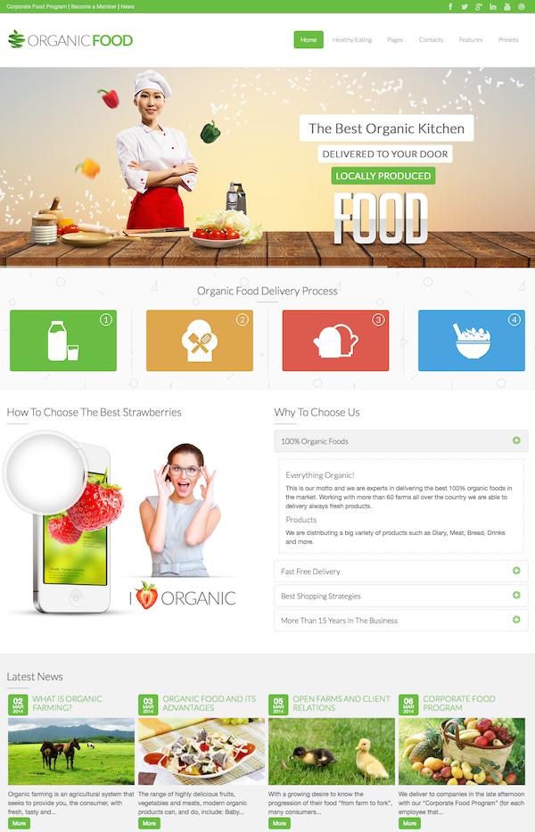 Organic Food - Responsive Joomla Template2