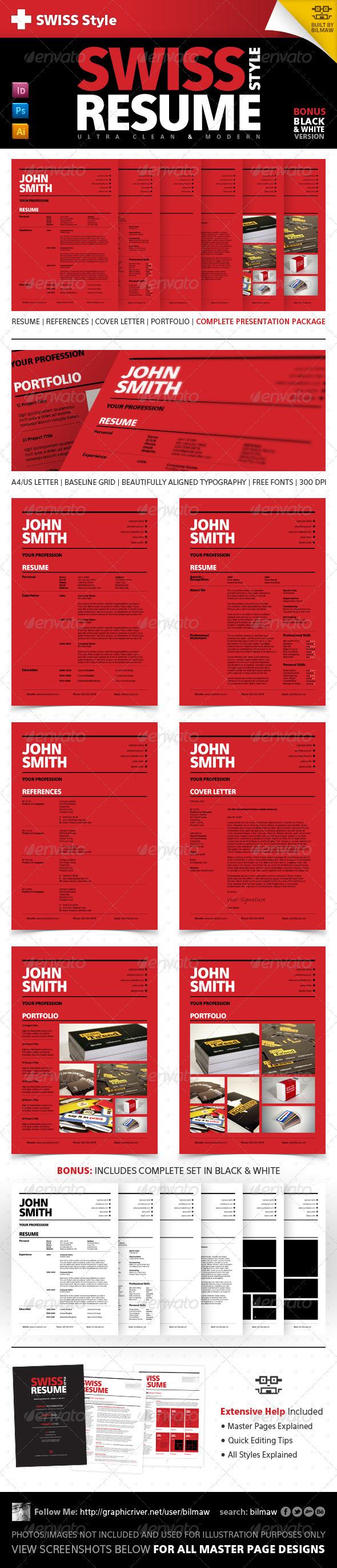 Swiss Style Clean Modern Resume:CV