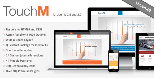TouchM Responsive Multi-purpose Joomla Template