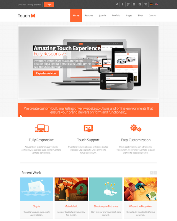 TouchM Responsive Multi-purpose Joomla Template2