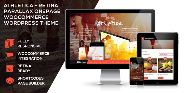 Athletica - Retina Parallax OnePage WP Shop Theme