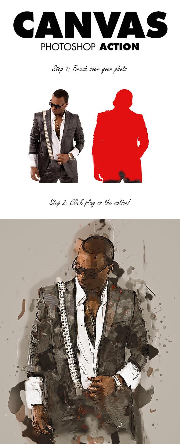 Canvas Photoshop Action